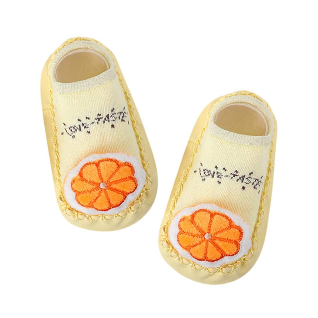Sencillo Vida Calcetines Socks Antideslizantes de Bebe Recién Nacido Niñas Niños con Diseño Impreso de Fruta 1 Pares