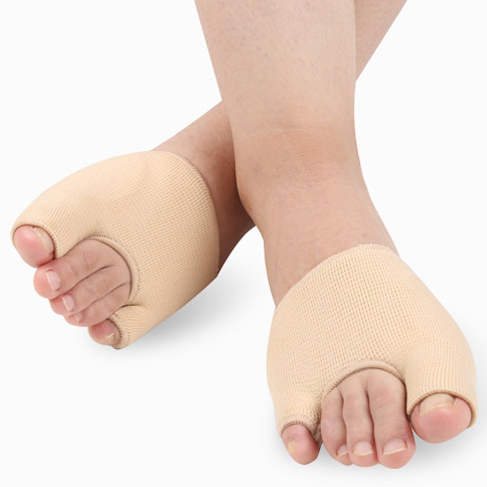 SOFIT Gel Nylon Bunion Corrector Sleeves Kits, Toe Separator Sleeve Breathable, Hallux Valgues Forefoot Socks, Gel Bunion Pads Cushion Bunion Protector for Men & Women, Relief Your Bunion Pain(1 Pair)