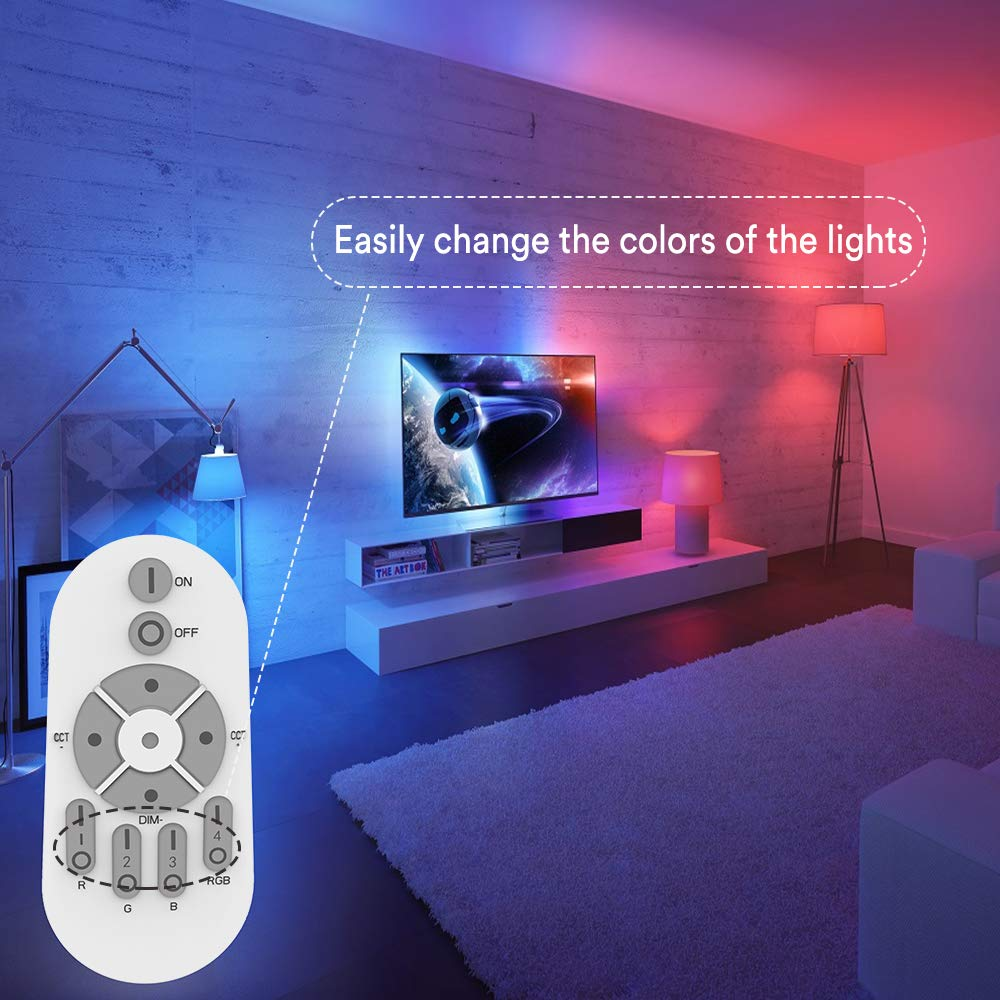 Lovely Recessed Color Changing Rgb Panel Lamp 3w Led Ceiling Down Light With Remote Control Home Family Day Decoration Sucking Lamp Ceiling Lights & Fans Lights & Lighting