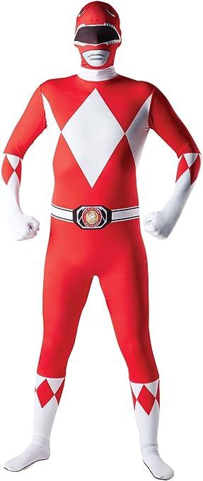Disfraz para Adulto de Power Ranger Rojo Mighty Morphin, tamaño ...