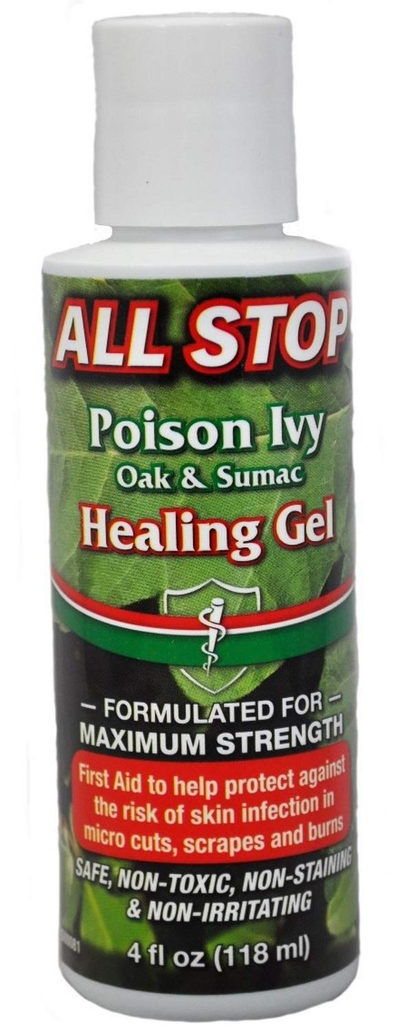 Poison Ivy, Poison Oak & Poison Sumac Healing Gel, Itch Cream - 4oz by All Stop