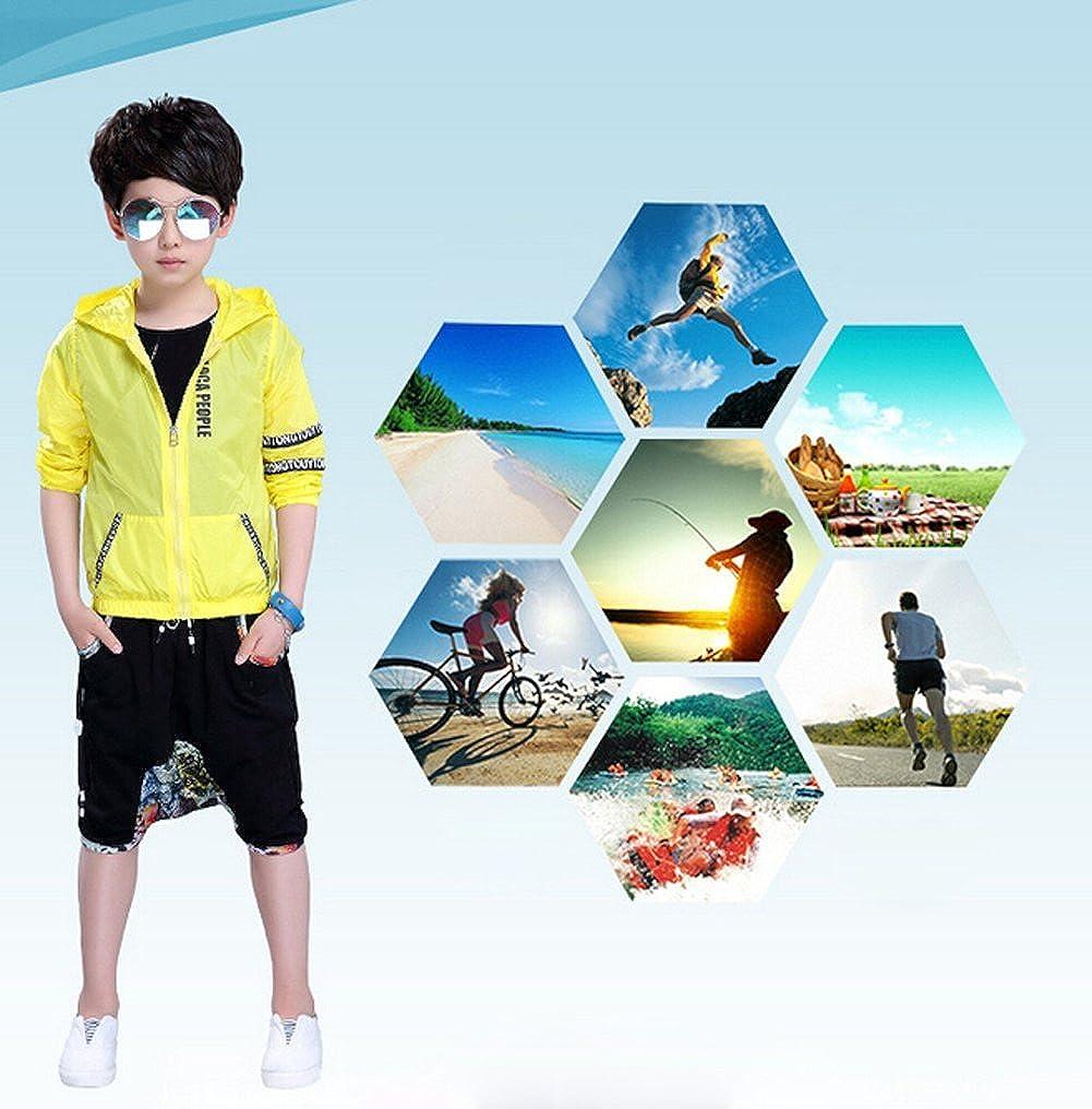 b33fbbc31b30 LifeWheel Kids Summer Long Sleeve Anti UV Clothing Sun Protection Thin Coat  Hoodie BeachWear for Boys 8-16 Years Old  Amazon.co.uk  Clothing
