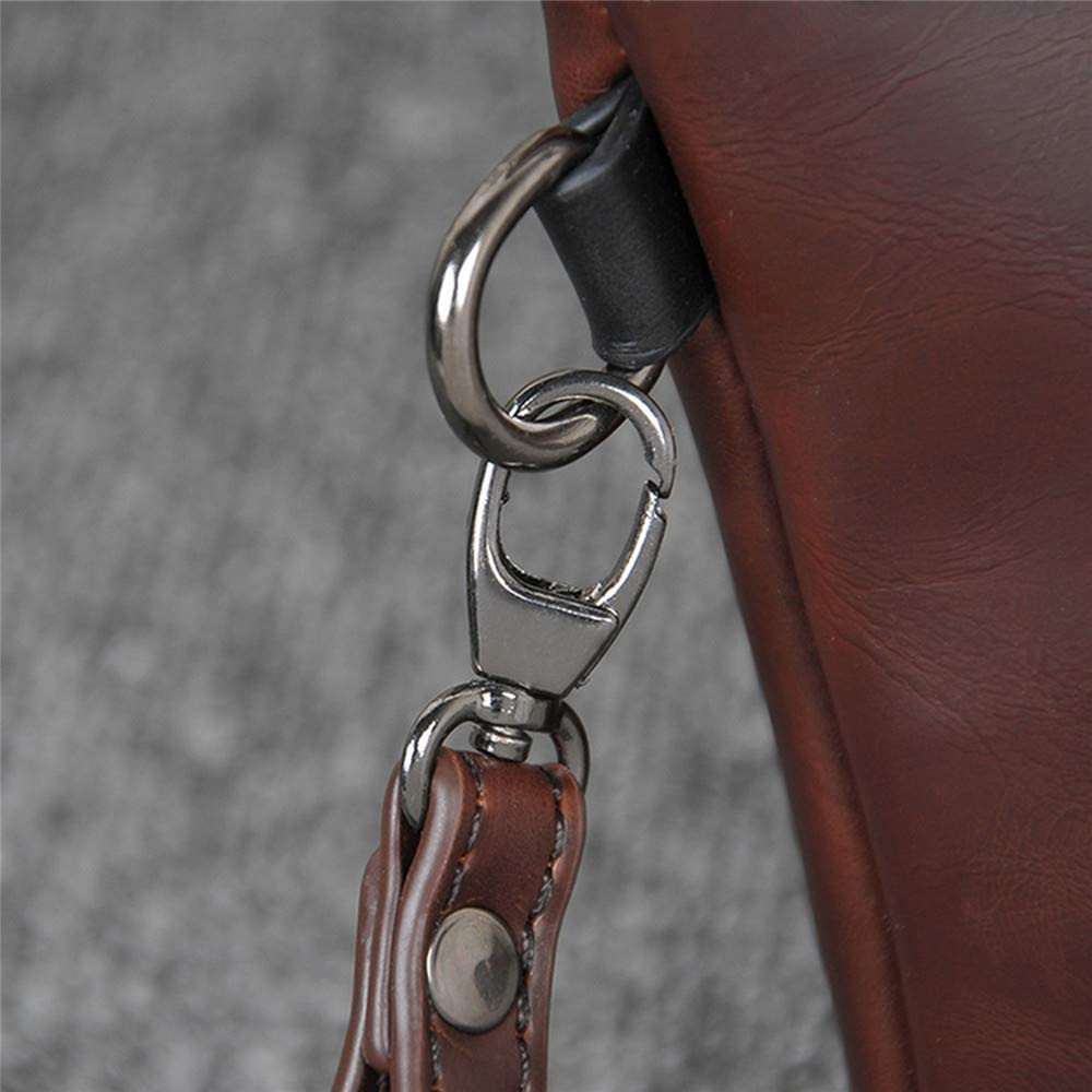 Solid Vintage Handbag For Men Coffee Mens Business Clutch Bag PU Leather Men Envelope Bags