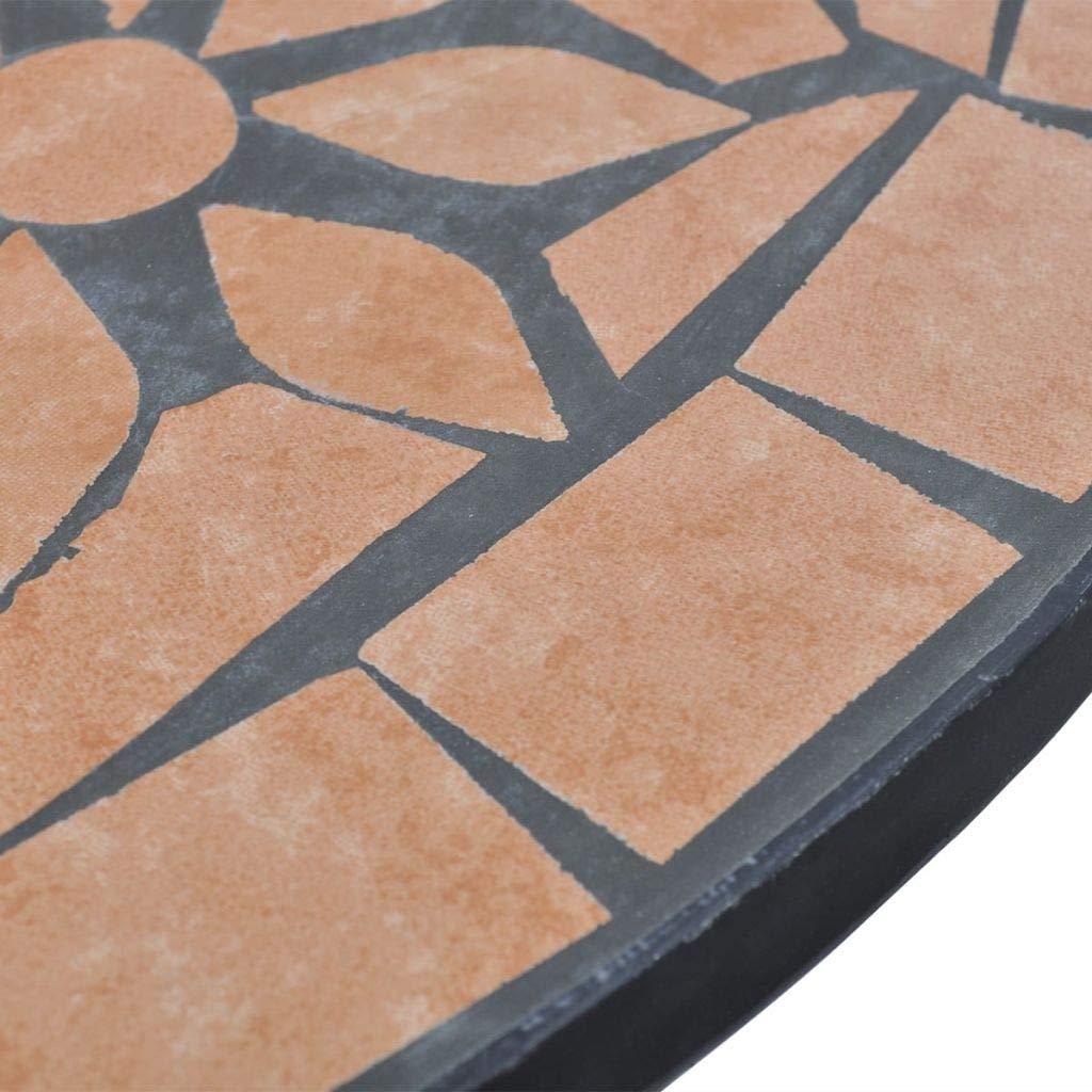 yorten Mosaic Table Garden Table Coffee Table 60 cm Terracotta