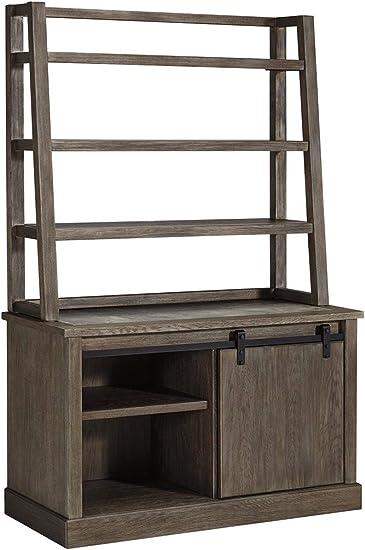 Ashley Furniture Signature Design – Luxenford Home Office Desk Hutch – Desk Hutch Only – Grayish Brown Finish