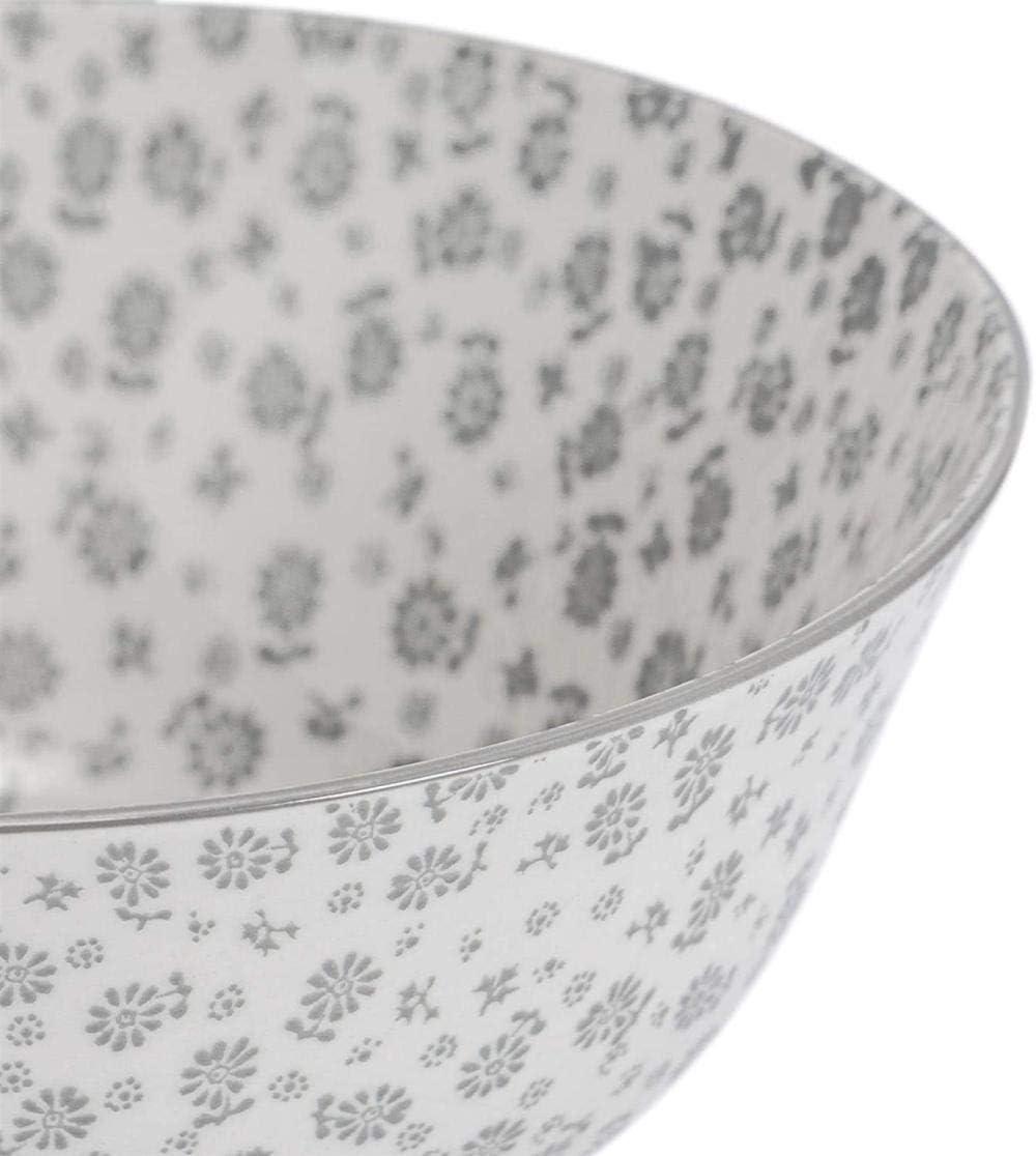 Plat /à Dessert Petit D/éjeuner en Porcelaine Bol /à C/ér/éales Motif Marguerite 16cm Gris