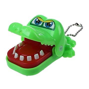 Juguete de cocodrilo de dentista - TOOGOO(R)nuevo juguete de cocodrilo de dentista de mordedura con llavero verde
