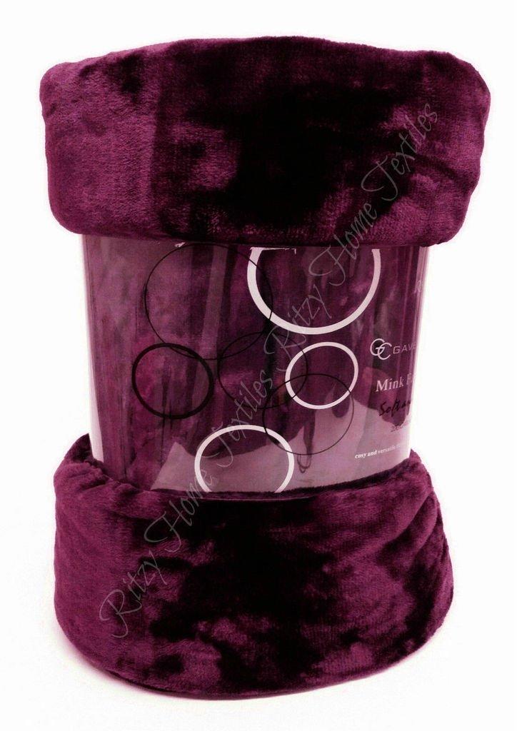 Double Bordeaux 100/% polyester//polyester Gaveno cavailia Fausse fourrure polaire mink pas couverture sofa lit uni douce chaude grand
