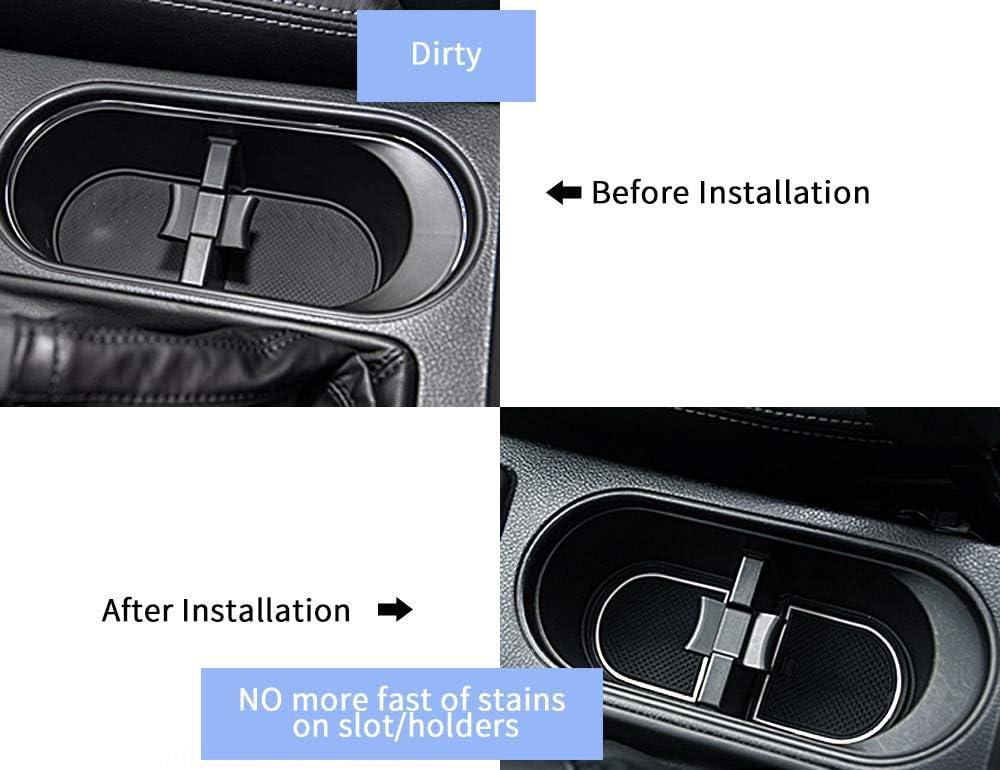 Custom Fit Door Liner Cup Console Holder Inserts for Subaru Crosstrek Marchfa Door Compartment Liner Accessories for 2020 2018 2019 Subaru Impreza Pack of 14 Orange