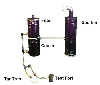 Wood Gas Generator >> Amazon Com Wood Gasifier Run Your Generator On Scrap Wood