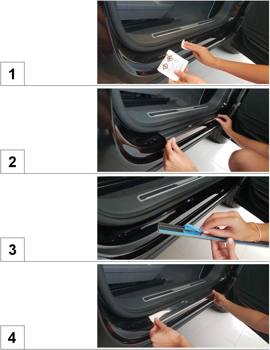 Glanz 4-teilig silber Auto Einstiegsleisten Set Edelstahl 5902538687805