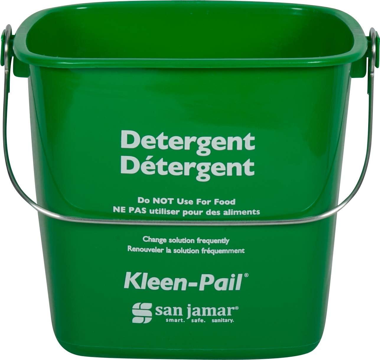 San Jamar KP97GN Kleen-Pail Commercial Cleaning Bucket, 3 Quart, Green: Industrial & Scientific