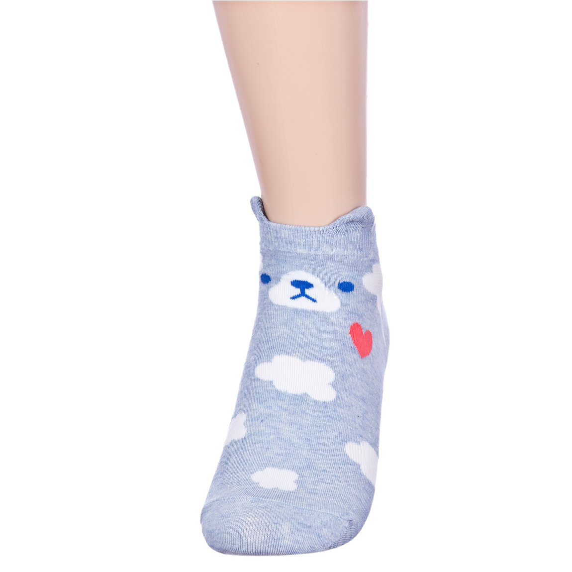 Fall in Love Animal Charater Casual Sneakers Socks (Onesize, 5 Pairs) by Dani's Choice (Image #6)