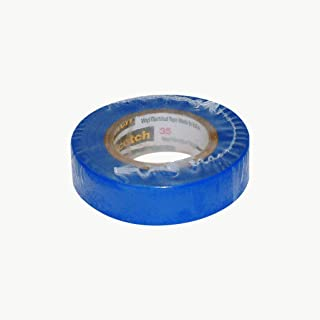 product image for Scotch Vinyl Color Coding Electrical Tape 35, 1/2 in x 20 ft, 10 rolls/carton, Blue
