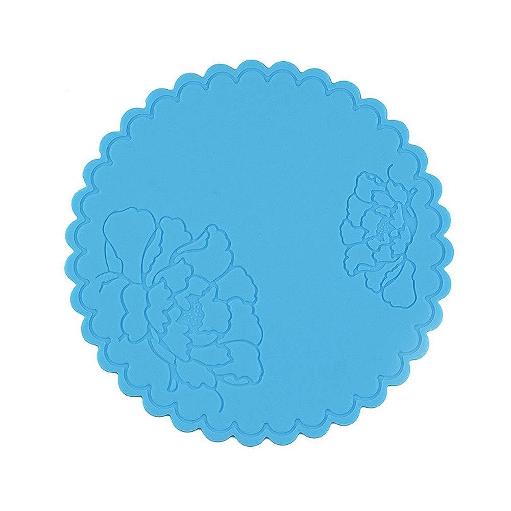 multiusos abrebotellas de goma Posavasos de silicona antideslizante resistente al calor redondo para cocina