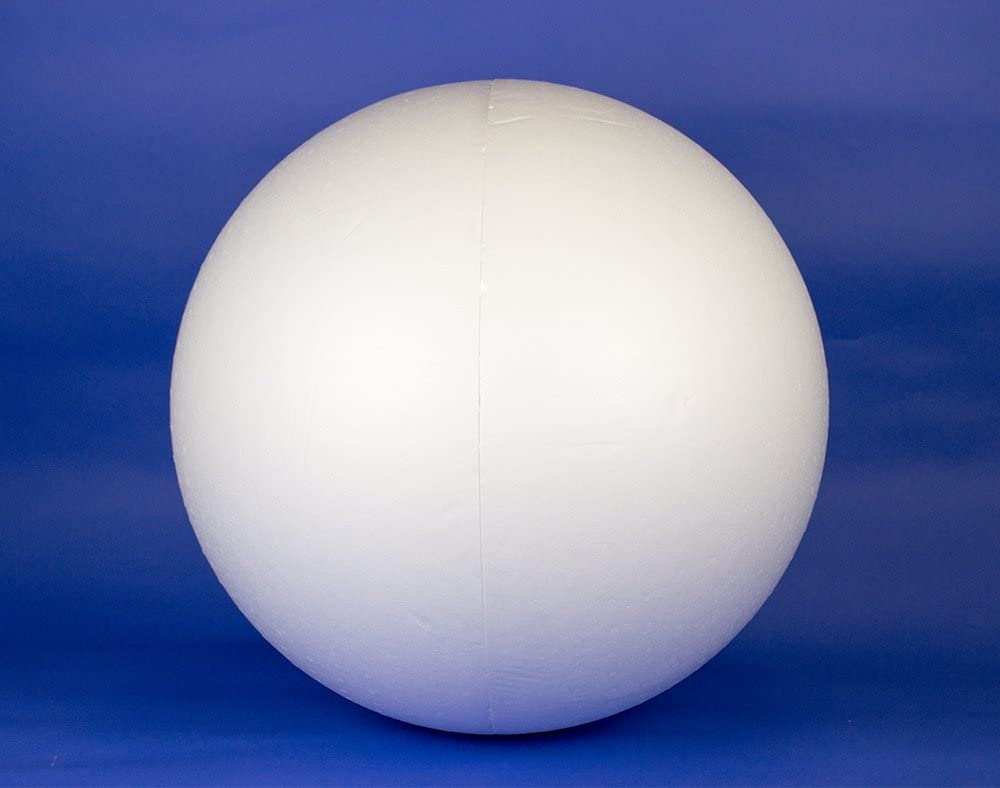 12 inch Polystyrene Balls in 2 HOLLOW HALVES for craft decoration Large 300mm
