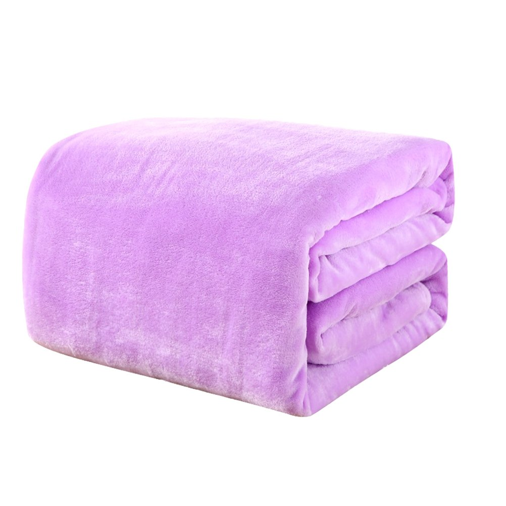 Pinkycolor Flannel Bed Blanket Thicken Sheet Extra Soft Bedspread Warm Plush Easy Care Lightweight Fluffy Bedding Blankets for Kid Girl Boy Toddler Children Baby Bedroom
