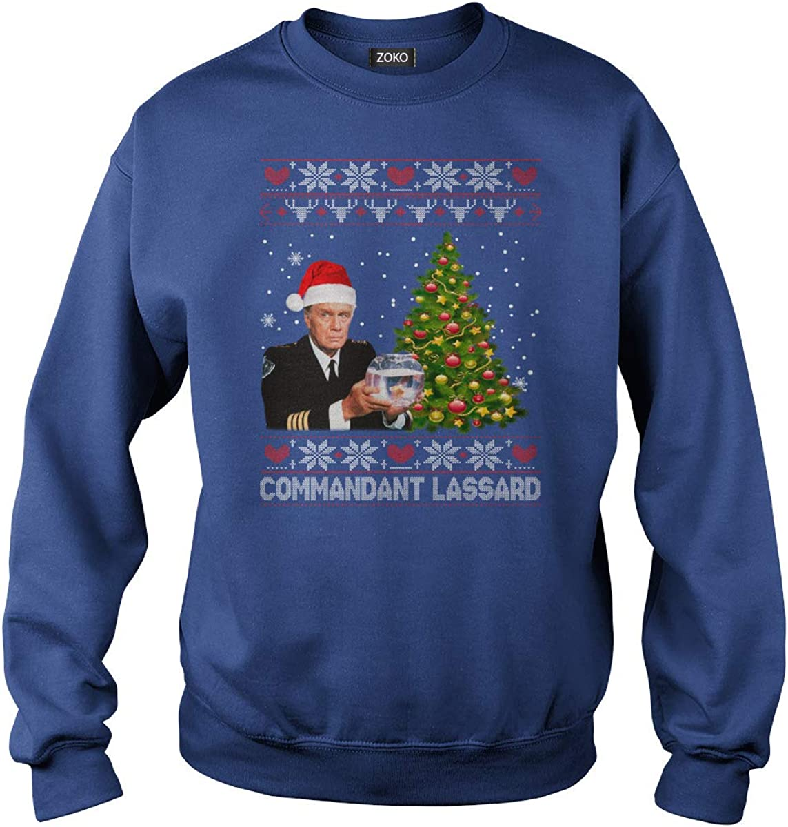 Zoko Apparel Commandant Lassard Ugly Christmas T-Shirt