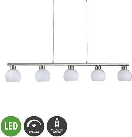 RGB LED Hänge Lampe Wohnzimmer Dimmer Fernbedienung ALU Decken Leuchte gebürstet