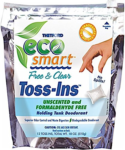Eco-Smart Free & Clear Toss-Ins Holding Tank Deodorant (Pack of 12) – Thetford 94032