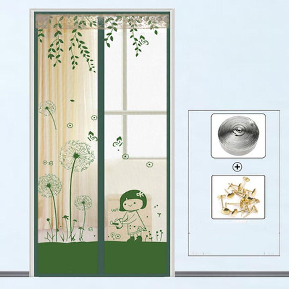 J&DSSSU Mosquitera Puerta Pantalla magnética Cubierta con Cortina de Malla Resistente Cortina para Puertas de Volar,Balcones-A 90x200cm(35x79inch): Amazon.es: Hogar