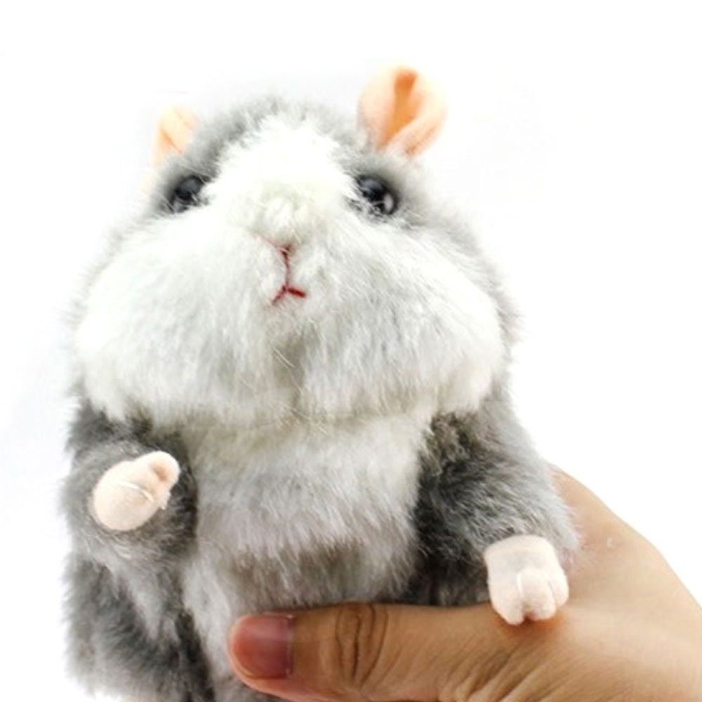 Mimicry Talking Hamster Electronic Pet Mouse for Baby Kids, Stuffed Animal Plush Toys Voice Recorder Toy Repeat What You Say,Speak It Out Game Toy for Children Birthday Gift Christmas Gifts