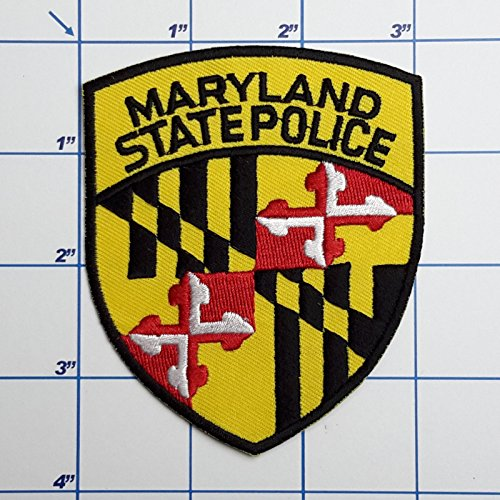 (SNOW - 1 PC US Police Patches - Full Size Embroidered Iron-On Patch Series - Maryland State Police )