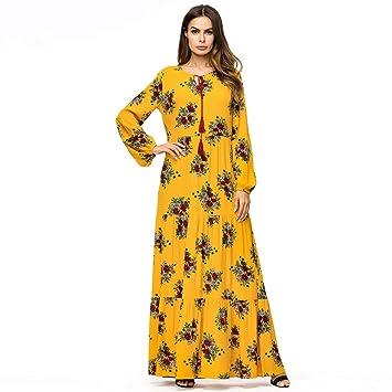 ef80a198b Amazon.com: Clearance,2019 Ramadan Womens Robe Abaya Islamic Muslim Middle  Eastern Long Dress Indian Pleated Burqa Tunic Gowns On Sale (XXXL, ...