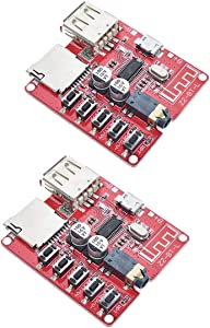 HiLetgo 2pcs MP3 Bluetooth Decoder Board Lossless Car Speaker Audio Amplifier Board Modified Bluetooth 4.1 Circuit Stereo Receiver Module5V