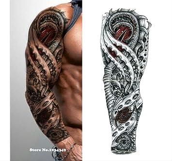 yyyDL Etiqueta engomada impermeable del tatuaje Brazo lleno de ...