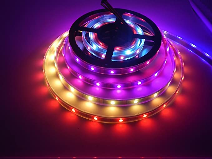 Purple led rope light uk rgb led strip lights rgbw led tapes also ws2813 led strip lights 16 4ft 150leds ip67 waterproof ws2813 c 30 aloadofball Image collections