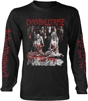 Negro Cannibal Corpse Butchered At Birth Explicit Long Sleeve Shirt