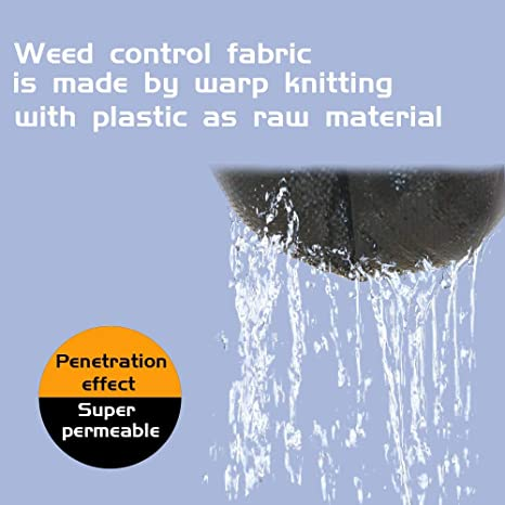 Eco-Friendly /& Convenient Design KUD SAHDE Sunnykud Garden Weed Barrier Landscape Fabric Durable /& Heavy-Duty Weed Block Gardening Mat 6.5ft x 16.5ft Easy Setup /& Superior Weed Control
