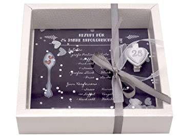 Zauberdeko Geldgeschenk Verpackung Silberhochzeit Gutschein Geschenk