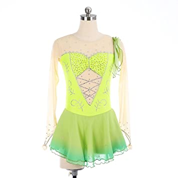 GZHGF Handmade Eislaufen Kleid Für Frauen und Mädchen Translucent ...