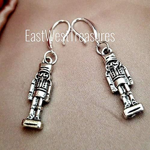 Nutcracker earrings for women-Christmas Holiday earrings jewelry gifts for women teens-925 silver
