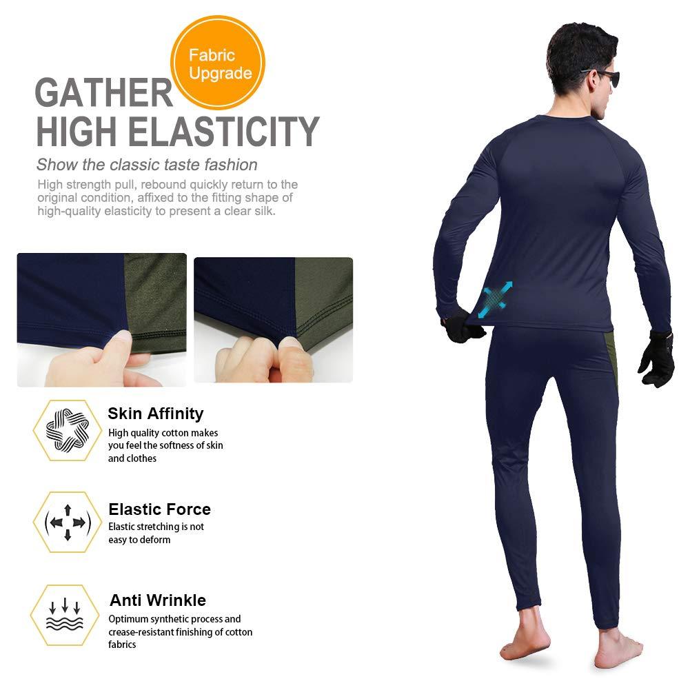 MEETWEE Biancheria Intima Termica Uomo Set,Traspirante Asciugatura Rapida Maniche Lunghe Sportiva Sets per Ciclismo e Lo Allenamento Sci Corsa