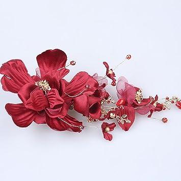 Girlanden, Braut Kopfschmuck rot Blumen Toast Service Brautkleid ...
