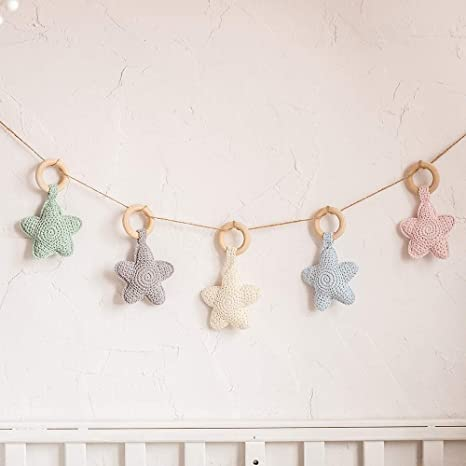 Amazon Com Let S Make Baby Crib Mobile Bed Bell Crochet