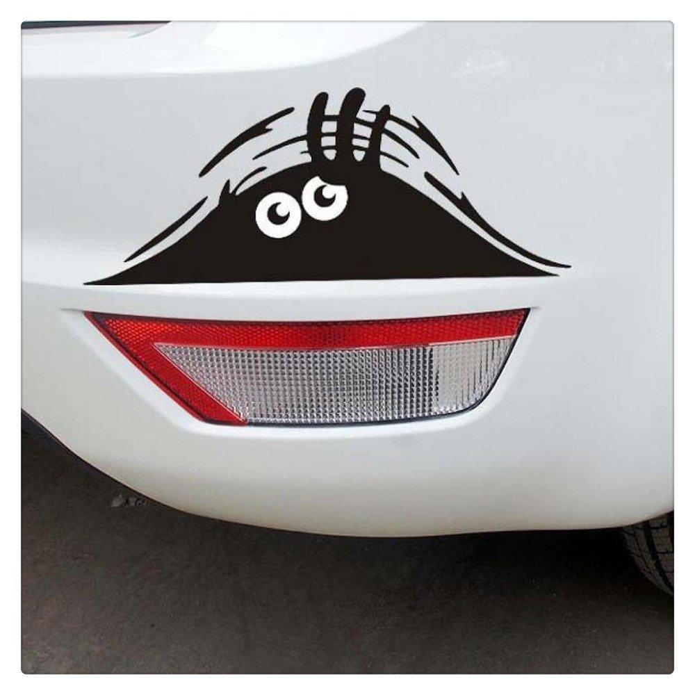 Car Sticker,FTXJ Novelty Eyes Peeking Voyeur Monster Car Body/Window Decal (Black) by FTXJ (Image #1)