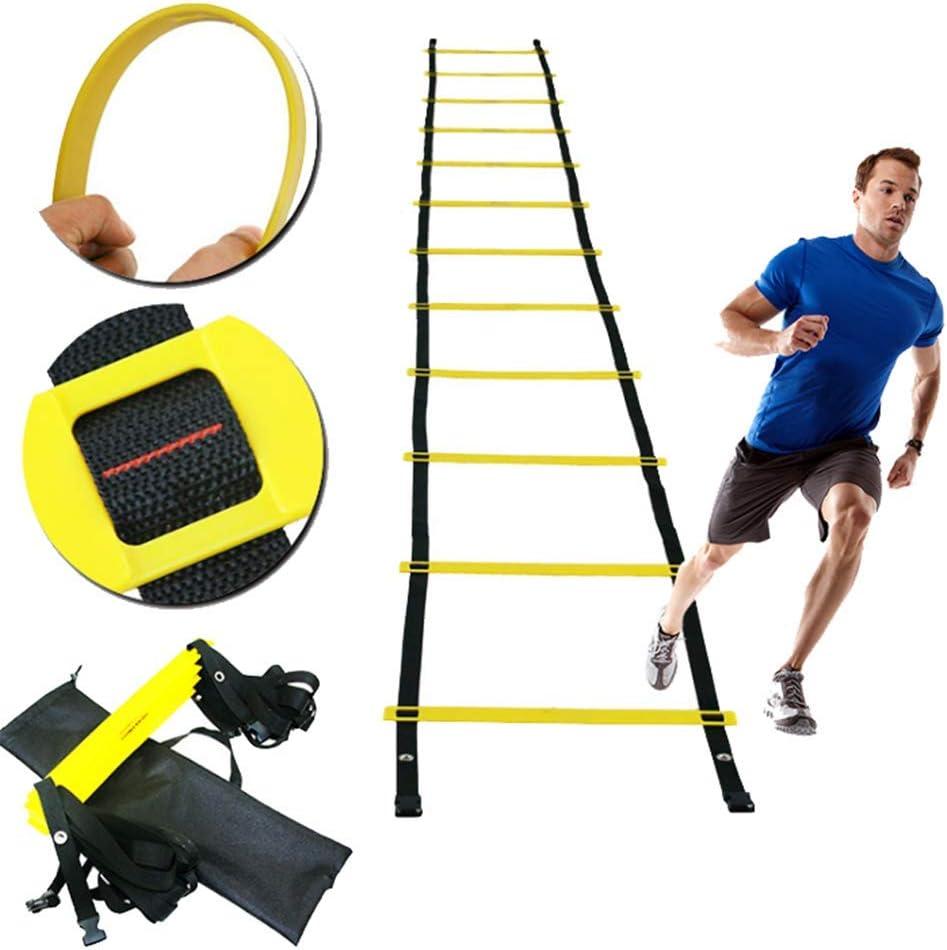 ZMXZMQ Velocidad De Escalera - Aparatos para Hacer Ejercicio De Entrenamiento, Múltiples Longitudes De Fútbol Velocidad Y Agilidad De Escalera - Viene con Bolsa De Transporte,15meters: Amazon.es: Hogar