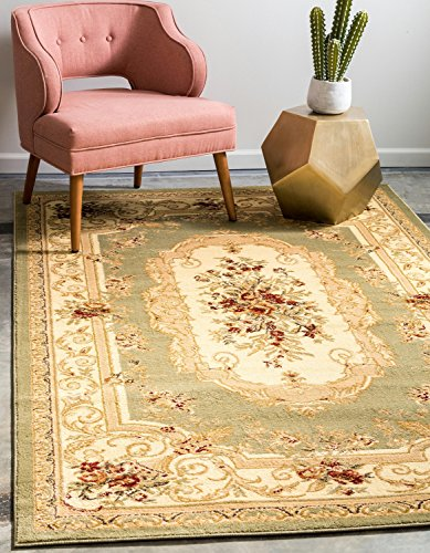 Unique Loom Versailles Collection Traditional Classic Green Area Rug (8