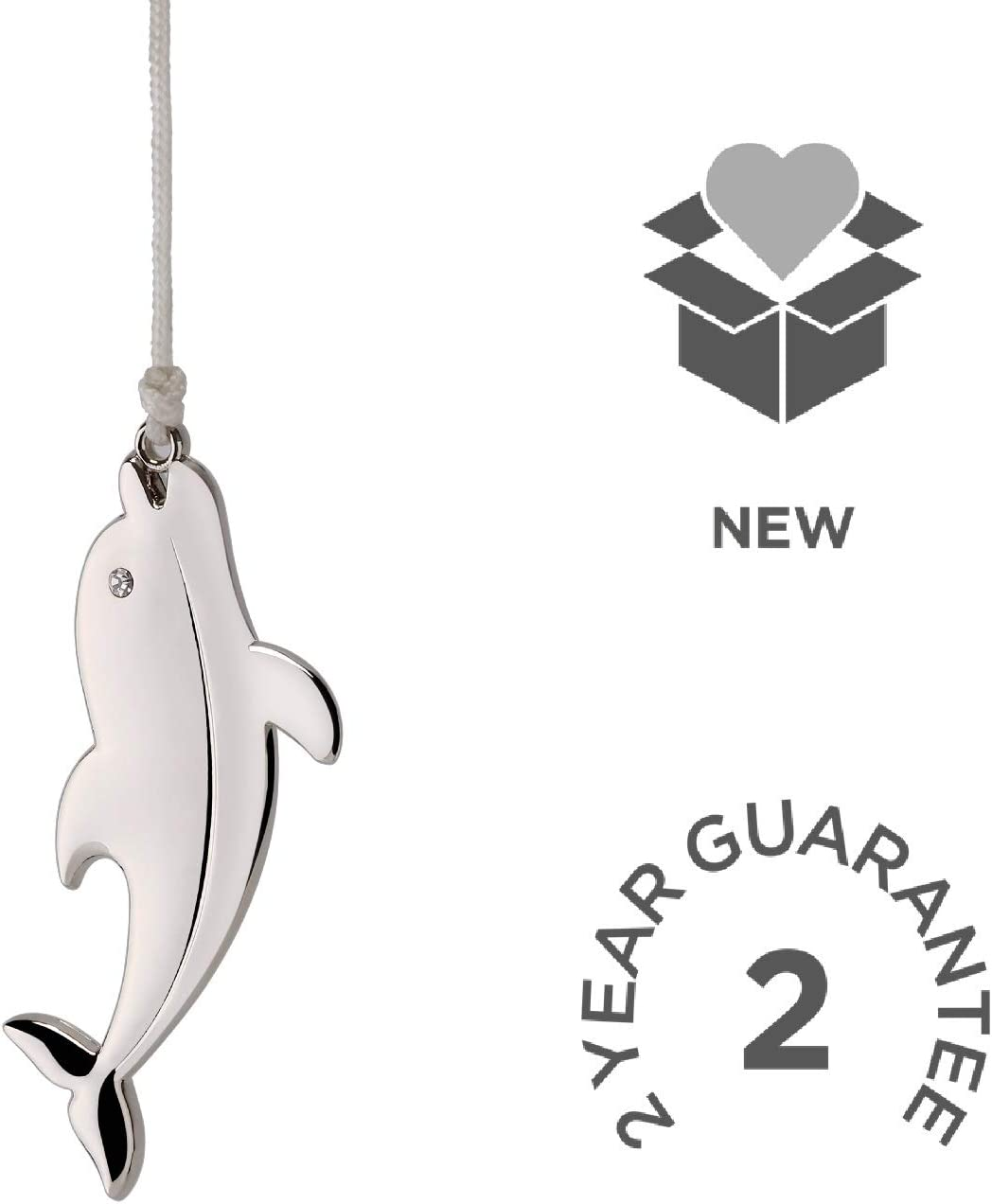 Chrome Modern Bathroom Dolphin Light Pull Handle and Cord Nuie AMA011
