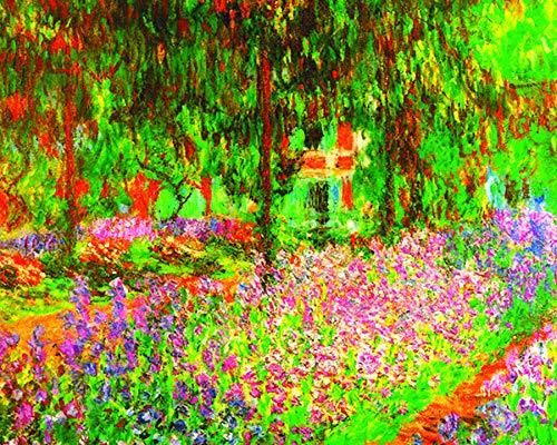 Claude Monet Artists Garden Impressionist Fine Art Print (Framed 8 x 10 Print)