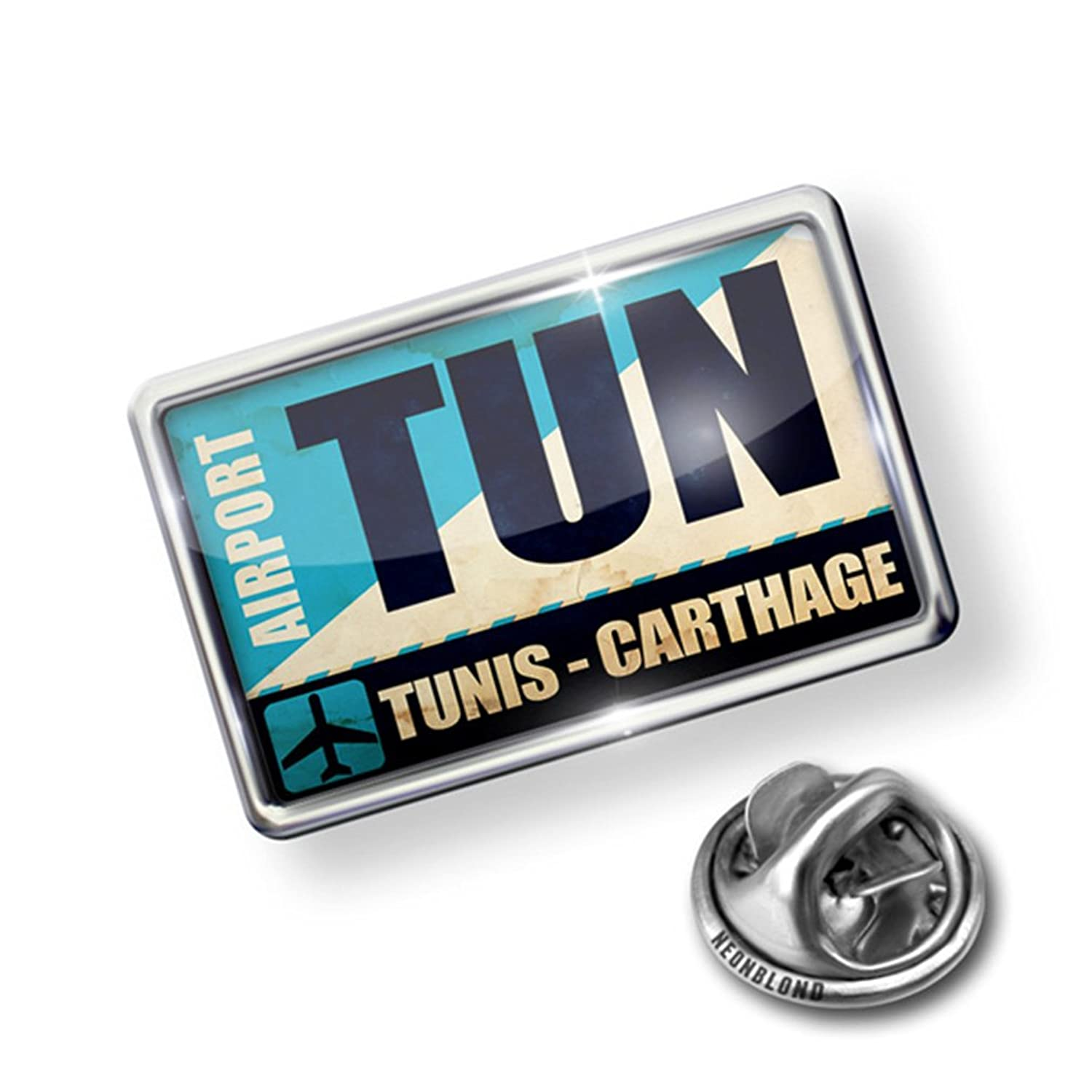 Pin Airportcode TUN Tunis - Carthage - Lapel Badge - NEONBLOND