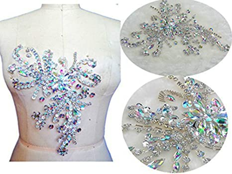 Pietre fatta a mano con strass e cristalli patches sew on applique