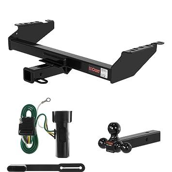 CURT cableado y soporte de bola de enganche de remolque para Ford Bronco, F-150, F-250, F-350: Amazon.es: Coche y moto