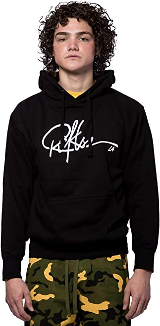 Young and Reckless - Signature Hoodie - Black/White - - Mens - Tops - Hoodies -