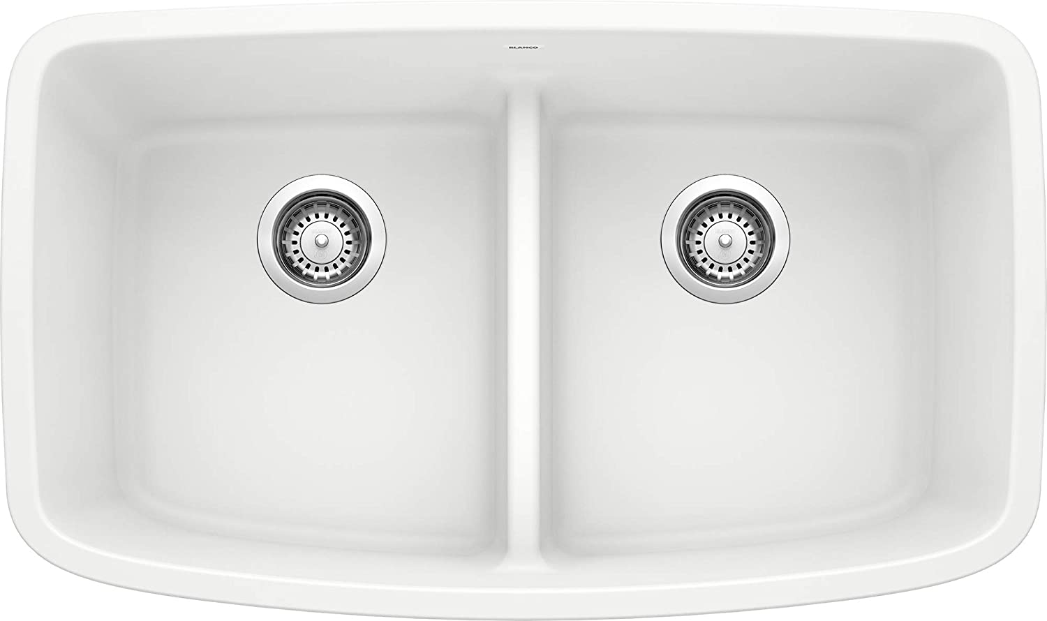 Blanco 442199 Valea Equal Double Low Divide-White Sink, 33 L x 22 W x 9.5 H