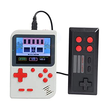 Everpert The Diwali Game Card Accessories Handheld Retro Video Game Console Player+Gamepad Built-in 500 Games (White)